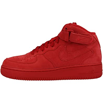 Nike Force 1 Mid (PS) Basketball Shoes 314196 004 (6 M US Big Kid, Gym RedGym Red White)