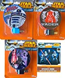 Star Wars R2d2 and Darth Vader Children's Night Light Pack of 3 with Bonus Mini Sticker Book