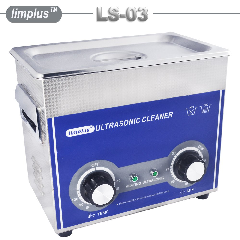 limplus Professional Ultrasonic Jewellery Cleaner with Timer for Cleaning Eyeglasses, Watches, Rings, Necklaces, Coins, Razors, Dentures