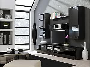 BMF Luna – Mueble para TV de Pared para TV de Plasma/LED/LCD/OLED Color Lacado: Amazon.es: Hogar
