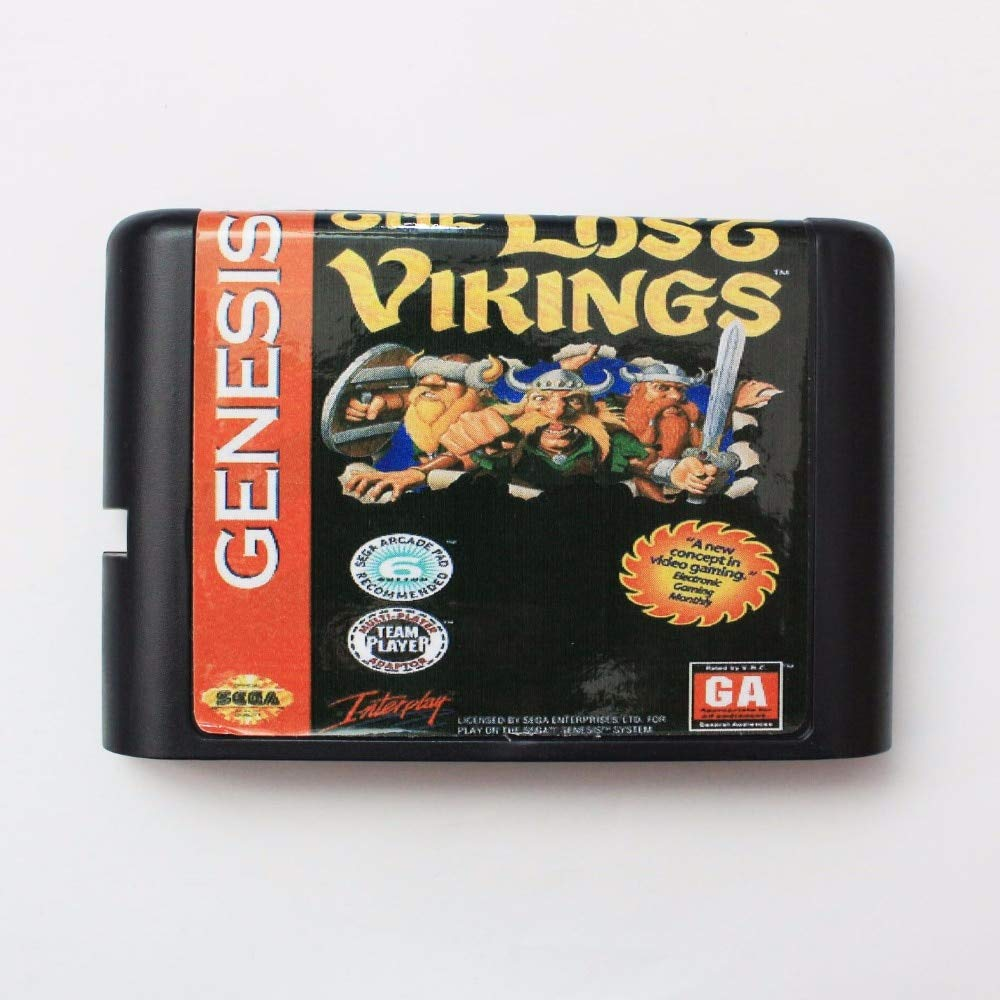 ROMGame The Lost Vikings 16 Bit Md Game Card For Sega Mega Drive For Genesis