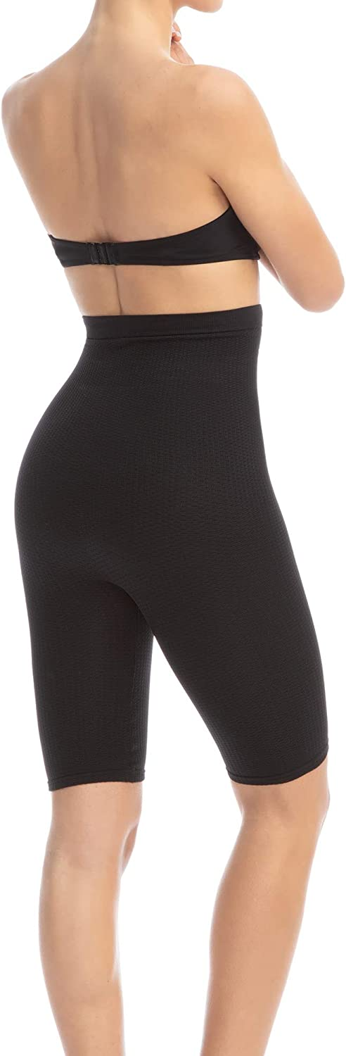 Farmacell 113 Womens high-Waisted Anti-Cellulite micromassage Shorts