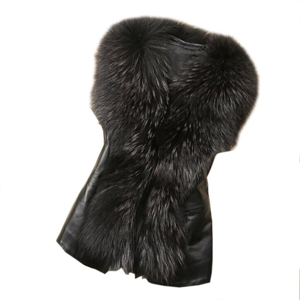 Koly _Womens Faux Fur Vest giacca senza maniche invernale