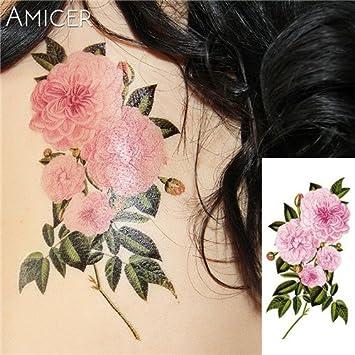 HXMAN 5 Unids 3d Flores De Cerezo Realistas Rosa Grandes Flores ...