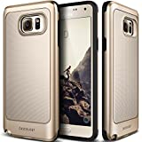 Galaxy Note 5 Case, Caseology® [Vault Series] Rugged Slim Cover [Gold] [Active Armor] for Samsung Galaxy Note 5 - Gold