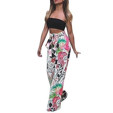 Femme Pantalon Coupe Large A Fleurs Overdose Pantalon D Ensemble