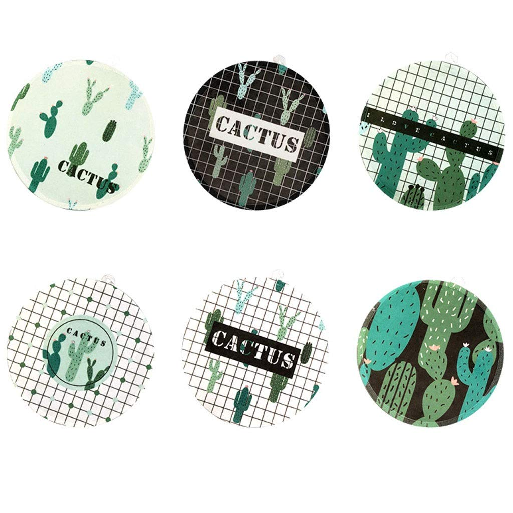 Coasters with Holder Nordic Round Coaster Placemat Kitchen Anti-hot Pad Bowl Mat Table Mat Heat-resistant Fabric Coasters Cup Holder Coasters by Zunruishop