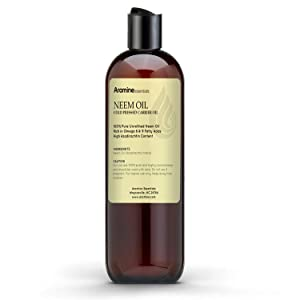 Neem Oil, 100% Pure Cold Pressed for Skincare and Hair care (4oz)