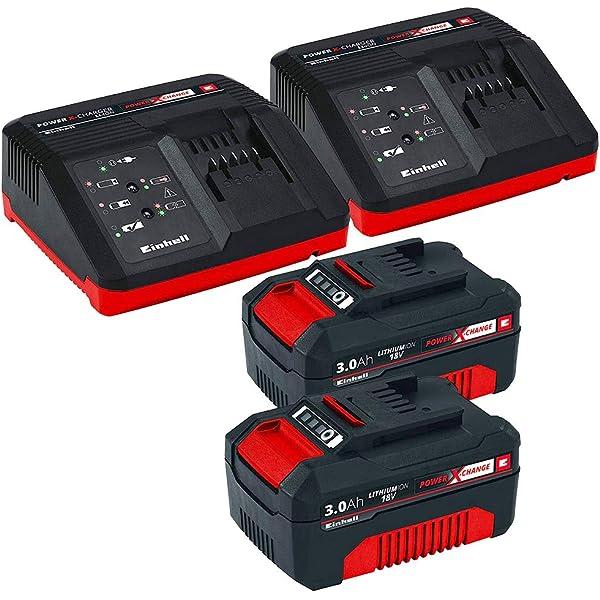 Einhell 4511341 BATERIA Repuesto 18V 3,0Ah min, 18 V, Negro, Rojo ...