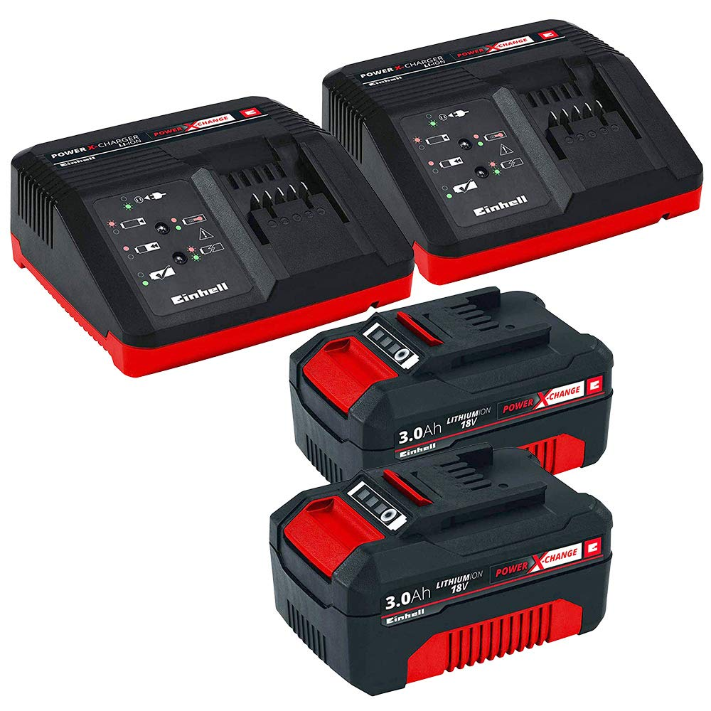 Set cortacesped bateria Einhell GE-CM 18/30V Li con 2 ...