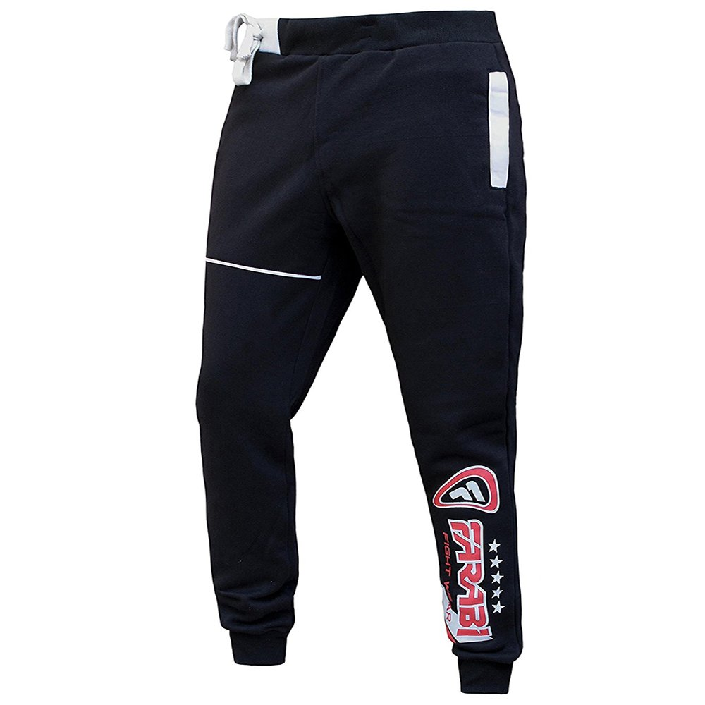 Farabi Fleece Bottom Trouser Jogging Sports Casual Pants Training Black (XL)