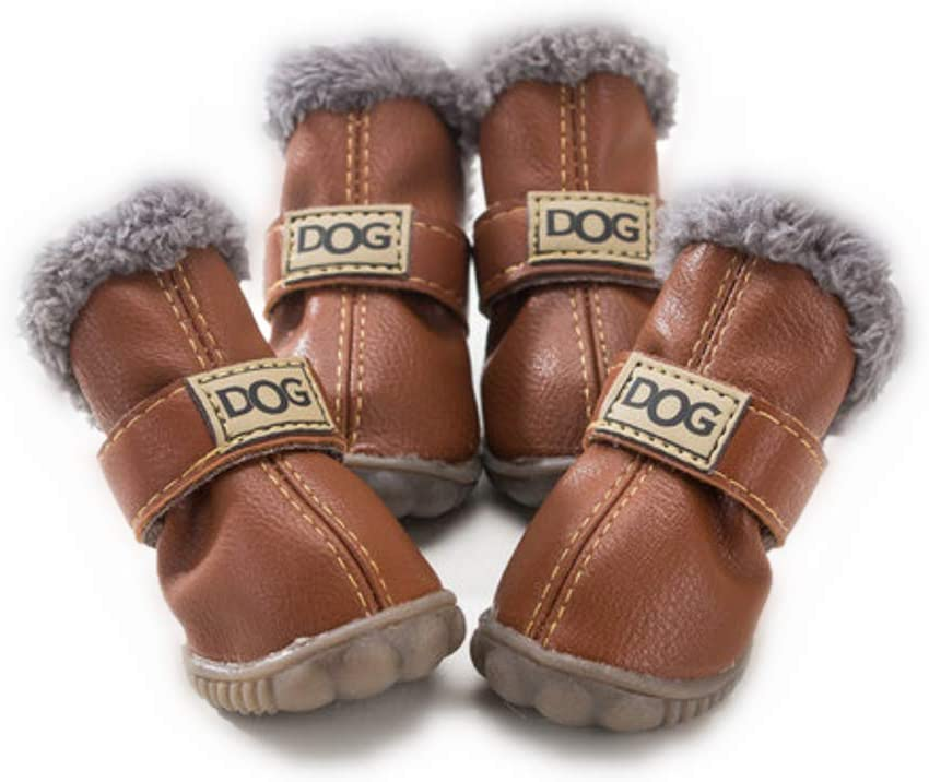 ZeroTone Warm Dog Snow Boots Waterproof Anti-Slip Small Dog Puppy Cat Winter Boots Pet Shoes 2 Styles #1-#5