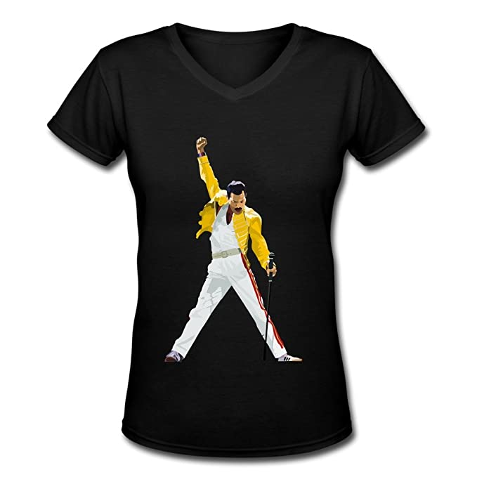 65dbf14f Rock Band Queen Freddie Mercury Women's V-Neck Tee Shirts Small: Amazon.ca:  Clothing & Accessories