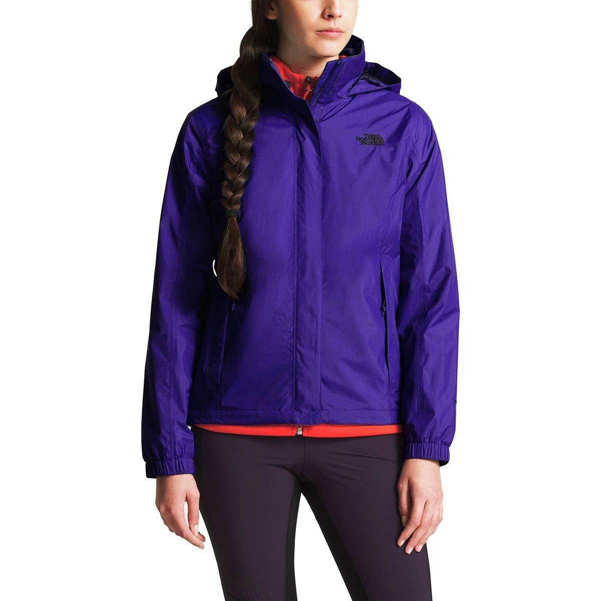 (ザノースフェイス) The North Face Resolve 2 Hooded Jacket レディース ジャケットDeep Blue/Galaxy Purple [並行輸入品]   B07F9Y83ZR