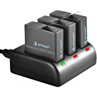 Artman Hero Replacement Batteries Compatible with Hero 7,Hero 6,Hero 5 Black,2018 Battery and 3-Channel LED USB Storage…