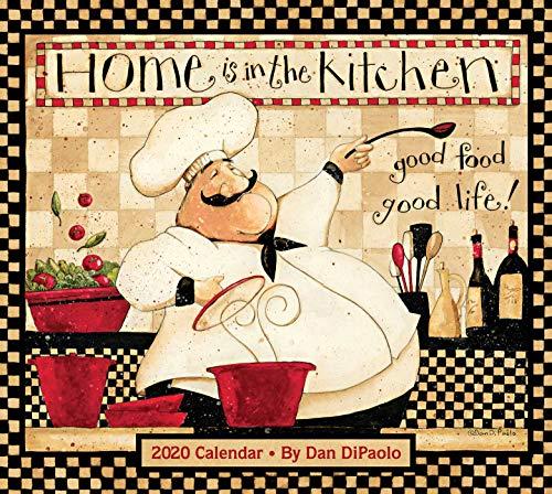 Chefs Home Decor - Home Is In the Kitchen 2020 Deluxe Wall Calendar