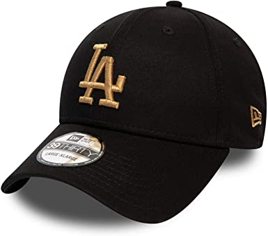 A NEW ERA Gorra 39THIRTY MLB League Essential L.A. Dodgers Negro ...