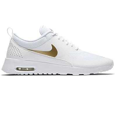 san francisco 10f3f 33bc4 Nike Damen WMNS Air Max Thea J Laufschuhe, Mehrfarbig (White Metallic Gold-