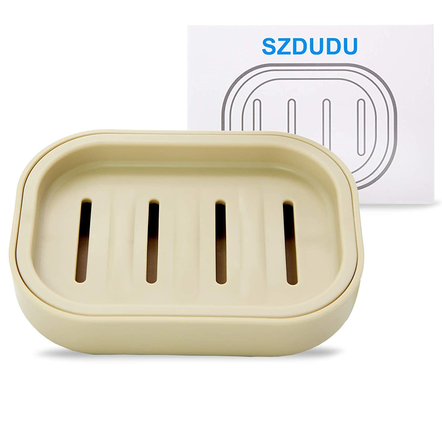 Soap Box,Soap Dish for bathroom, keep dry, easy to clean, drain, (Gray-blue)A worth having product zhong lan ruan ying