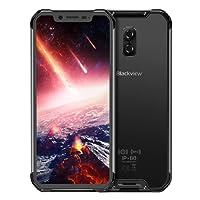 Blackview BV9600 Pro 6 GB + 128 GB 5580 mAh batería 6,21 Pulgadas Android 8.1 Helio P60 (MTK6771) Octa Core hasta 2,0 GHz gsm & WCDMA & FDD-LTE, Negro