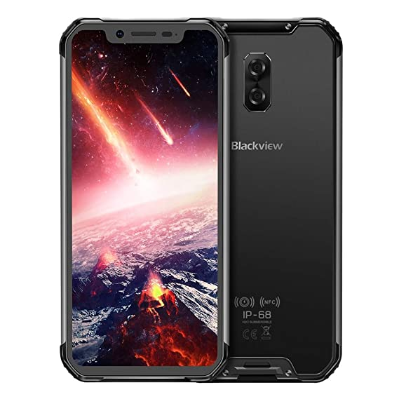 Blackview BV9600 Pro 6GB+128GB 5580mAh Battery 6 21 inch Android 8 1 Helio  P60 (MTK6771) Octa Core up to 2 0GHz GSM & WCDMA & FDD-LTE (Black)