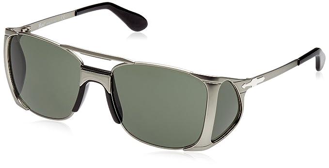 7173f2691f Persol PO2435S Sunglasses-105231 Gunmetal (Green Lens)-55mm  Amazon ...
