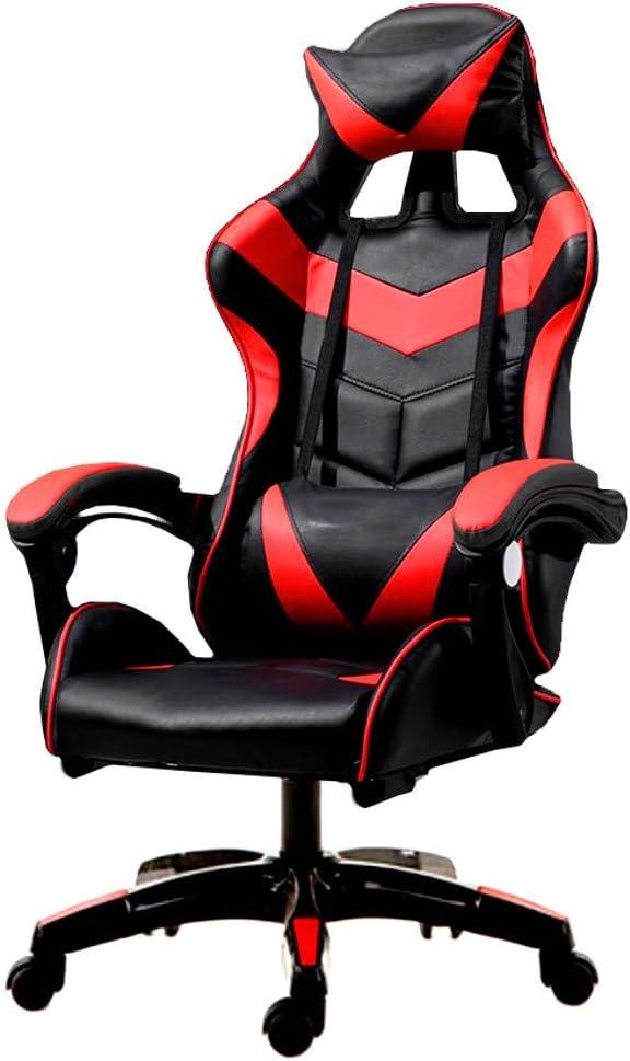 Silla Gaming anatómica, Asiento Giratorio para Los Jugadores de PC Gamer, Inclinación e Altura Ajustable, Cómodo sillón...