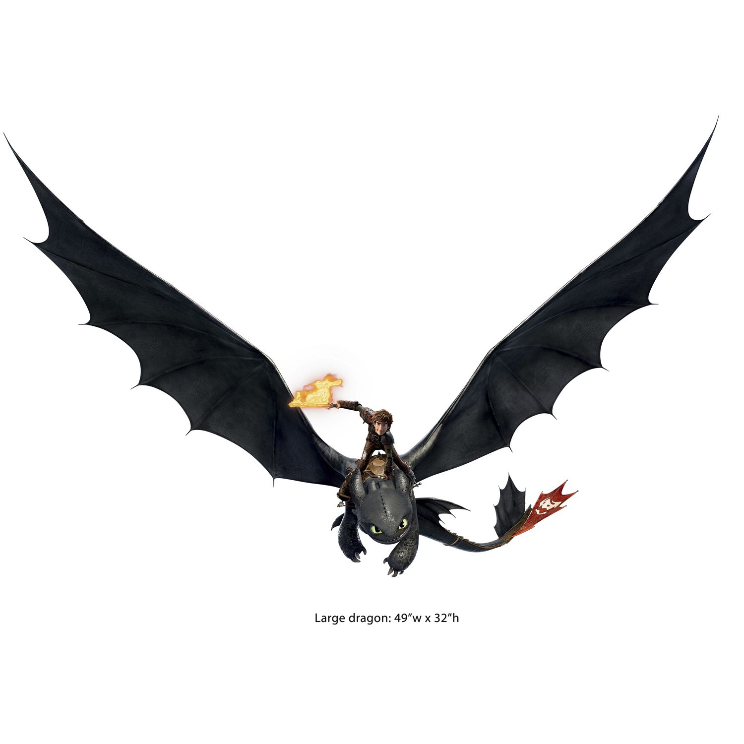 Amazon roommates how to train your dragon 2 hiccup amazon roommates how to train your dragon 2 hiccup toothless peel and stick giant wall decals home improvement ccuart Images