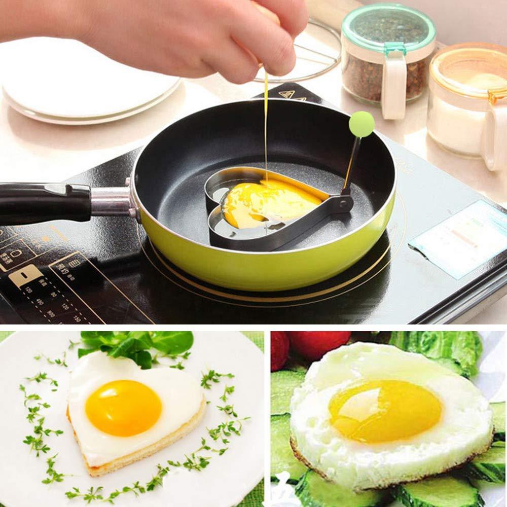 DIANZHI anillo de huevo de acero inoxidable herramienta de cocci/ón de herramienta de molde para el hogar de desayuno redondo