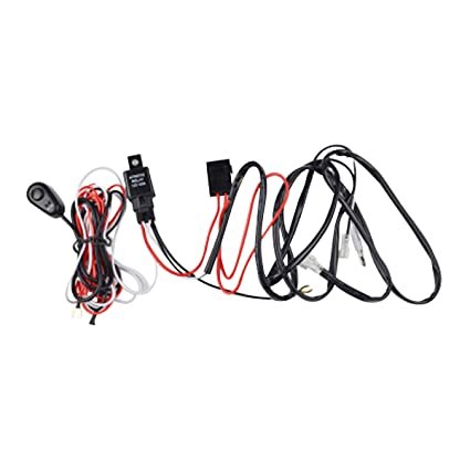 amazon com: winomo 118 inch led light bar wiring harness with relay on/off  switch for truck camper: home improvement