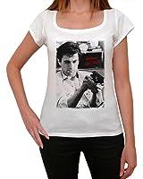 Robert De Niro, tee shirt femme, imprimé célébrité,Blanc, t shirt femme,cadeau