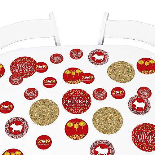 Big Dot of Happiness Chinese New Year - 2019 Year of the Pig Party Giant Circle Confetti - New Year Party Decorations - Large Confetti 27 Count