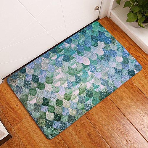 ish Scale Doormats Anti-slip House Garden Gate Carpet Door Mat Floor Pads (Fish House Doors)