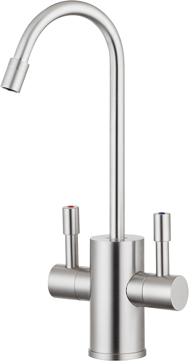 Ready Hot RH-F560-BN Dual Lever Faucet for Hot and Cold Water, Brushed Nickel Finish
