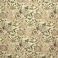 Lee Jofa SUZANNE RHEINSTEINHOLLYHOCK WOODCUT LEAF/BERRY Fabric