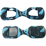 Fbsport 6.5inch Silicone Scratch Protector Cover Case For 2 Wheels Self Balancing Electric Scooter … (Blue-Black)
