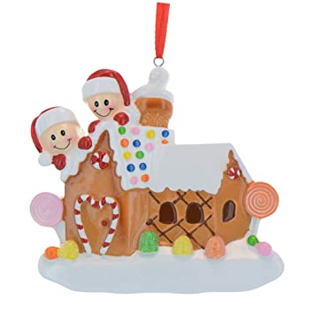 Personalized Gingerbread House Family Of 2 Christmas Tree Ornament 2019 Our Sweet Home New Candy Cane Door Children Couple Friend Sibling 1st First