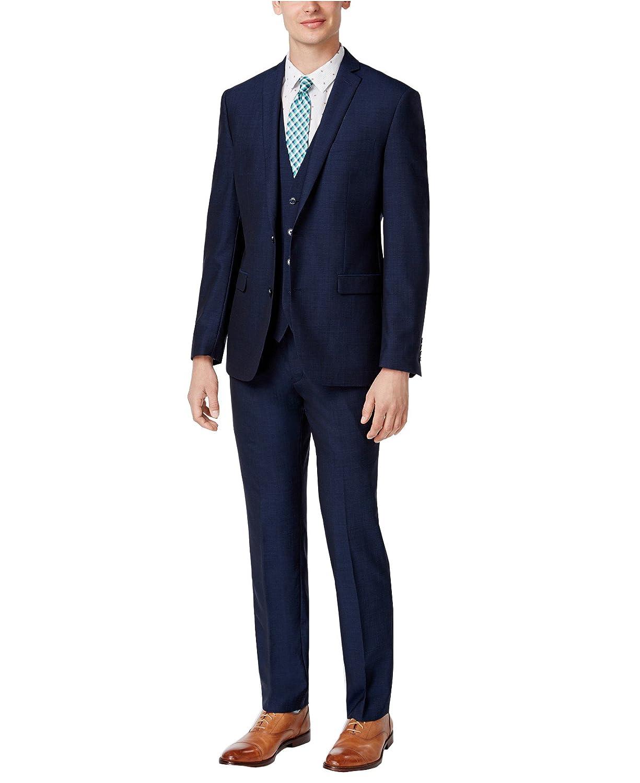 kelaixing Men's Suit 3-Piece Stylish 2 Buttons Blazer Jacket Flat Front Pants
