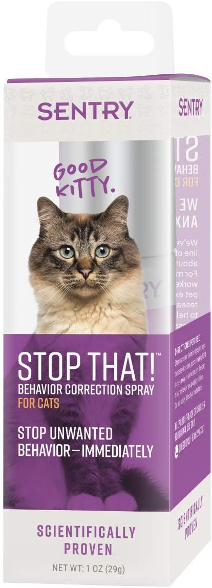 SENTRY Pet Care Sentry Stop That! Behavior Correction Spray for Cats, Clear