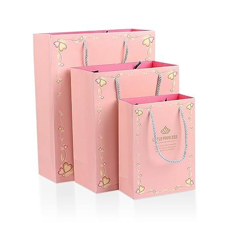 Tong Yue Juego de 12 bolsas de papel kraft con asa para boda ...