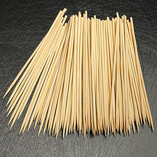 Bamboo Skewers, 6 inch Kebab Skewers Bamboo Grill BBQ Fruit Stick ,Set of 100.