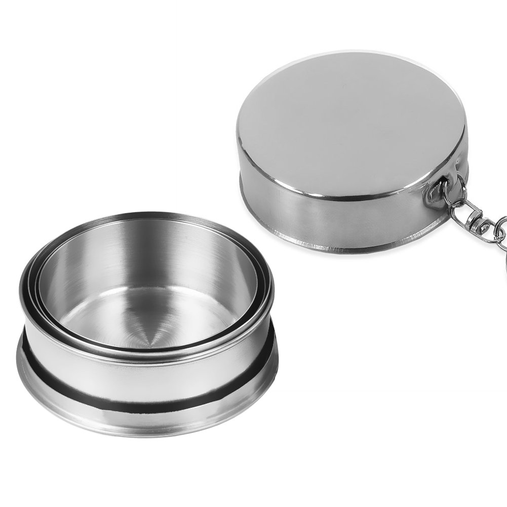 Runacc Stainless Steel Folding Cup Food Grade Collapsible Travel Portable Perfect For Picnic Camping