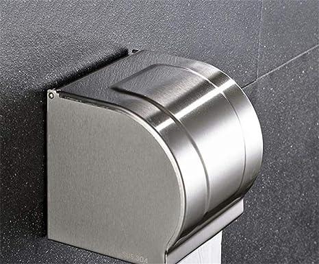 KIEYY Durable durable de acero inoxidable cepillado de baño toalla rack Portarrollos de papel higiénico titular