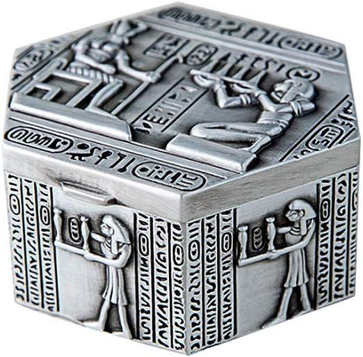 ZXQSJ Joyero Estilo Egipcio Caja Retro Retro joyero Caja pequeña ...