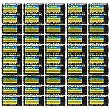 50 pcs Panasonic CR123A 3V Photo Lithium Batteries
