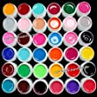 Demarkt 36 Colors Solid Pure Mix Color UV Builder Gel Acrylic Set for Nail Art