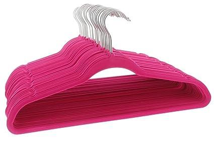 Perchas flocadas, antideslizantes; perchas para ropa, ultra-finas, para pantalones,