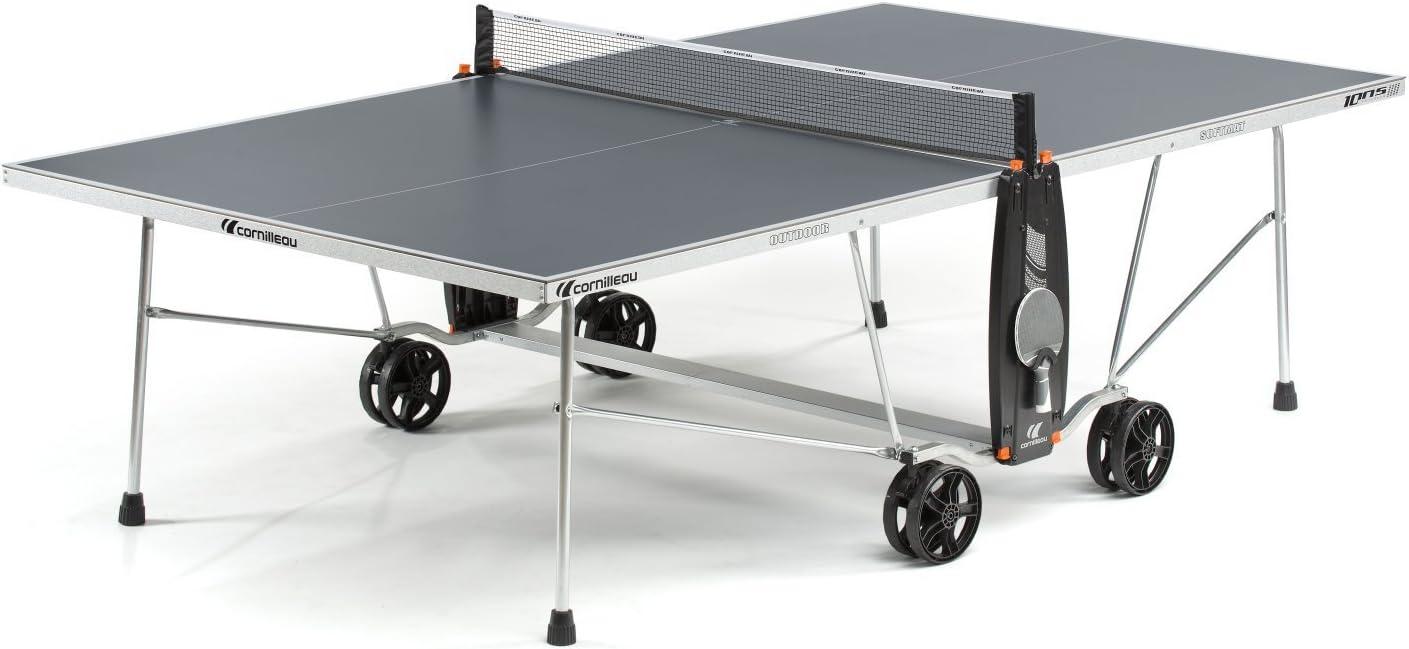 Mesa de ping pong 100S Crossover Outdoor, gris: Amazon.es ...