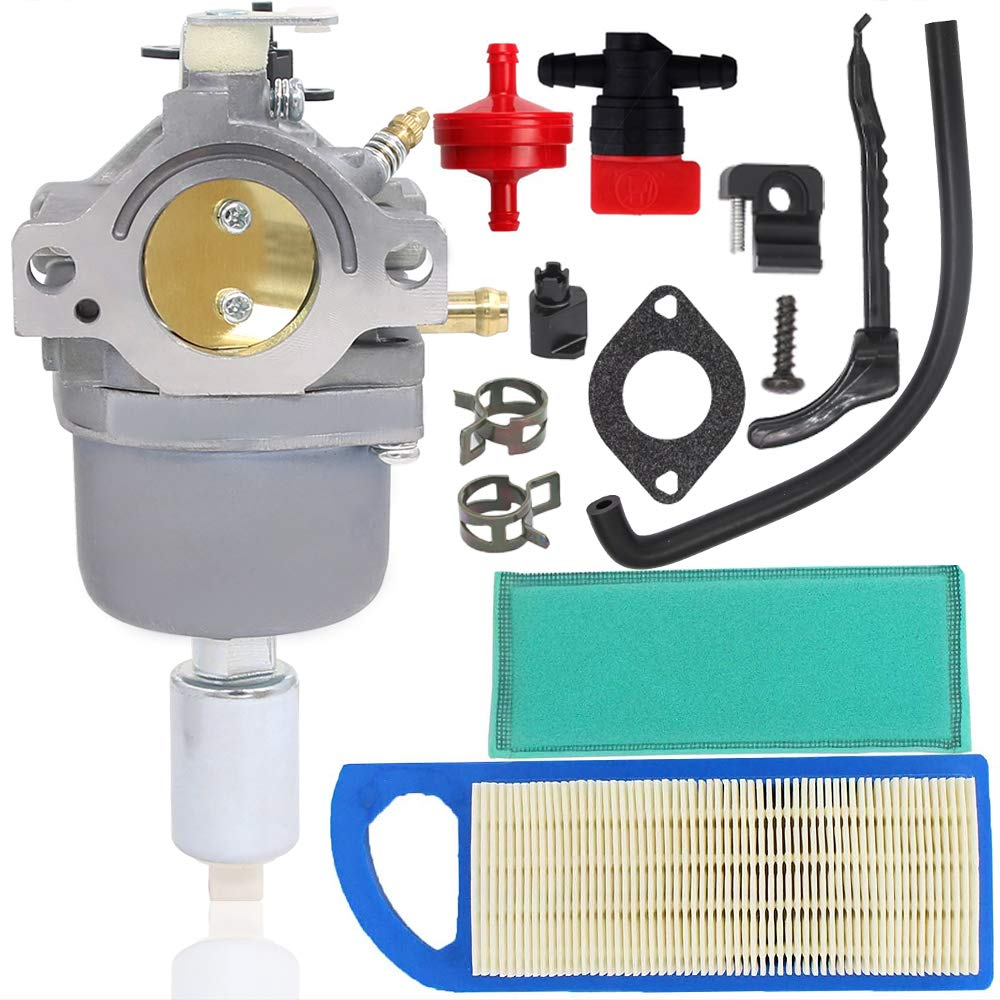 Woxla Carburetor Tune-up Kit with Air Filter for Briggs Stratton 594593 591731 593514 697141 697190 698445 699937 791858 791888 792358 31L777 Carb Intek 14.5-21HP Nikki 21B000 Engine