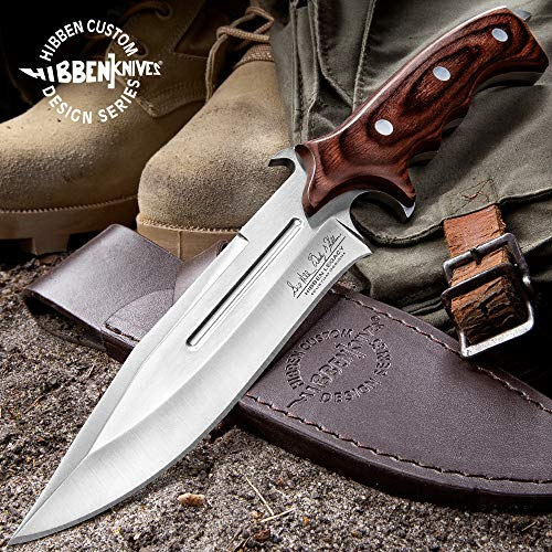 Gil Hibben Leather Knife - United Cutlery Gil Hibben Special Edition Assault Wood